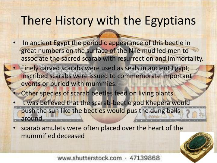 There History with the Egyptians