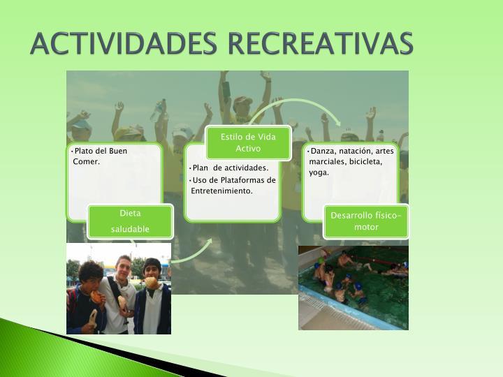 ACTIVIDADES RECREATIVAS