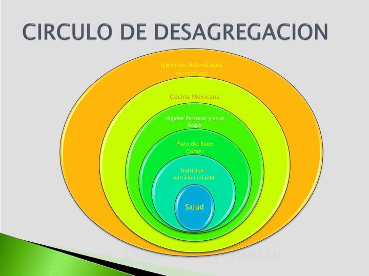 CIRCULO DE DESAGREGACION
