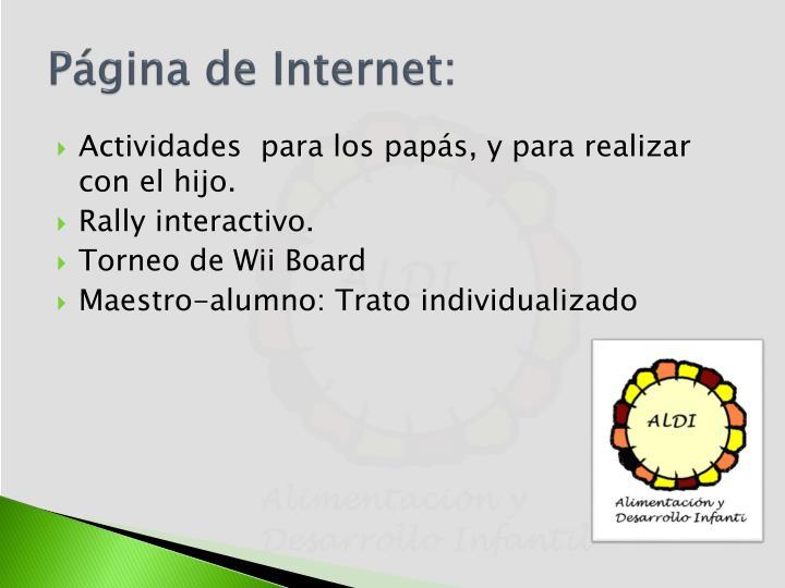 Página de Internet: