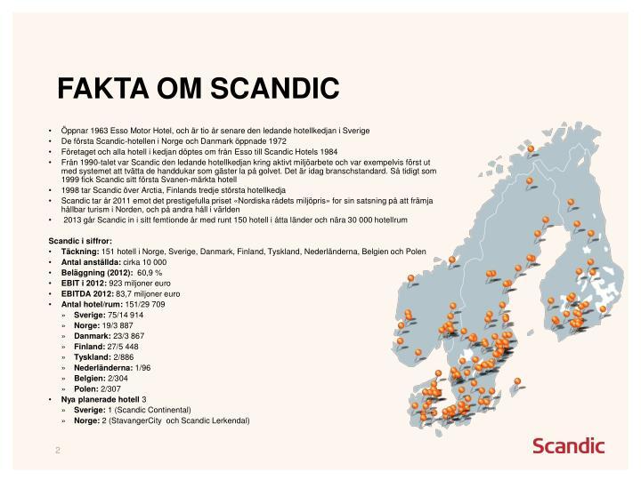 Fakta om Scandic