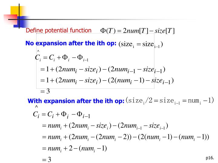 Define potential function