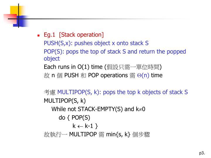 Eg.1  [Stack operation]