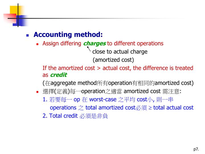 Accounting method: