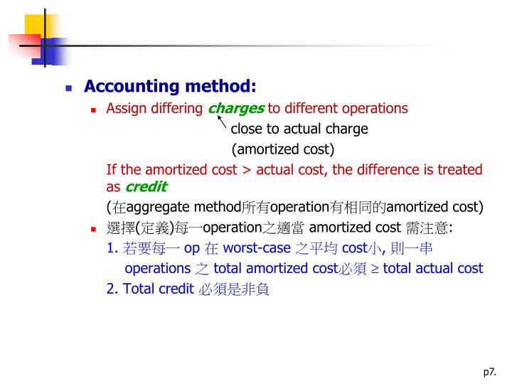 Accounting method: