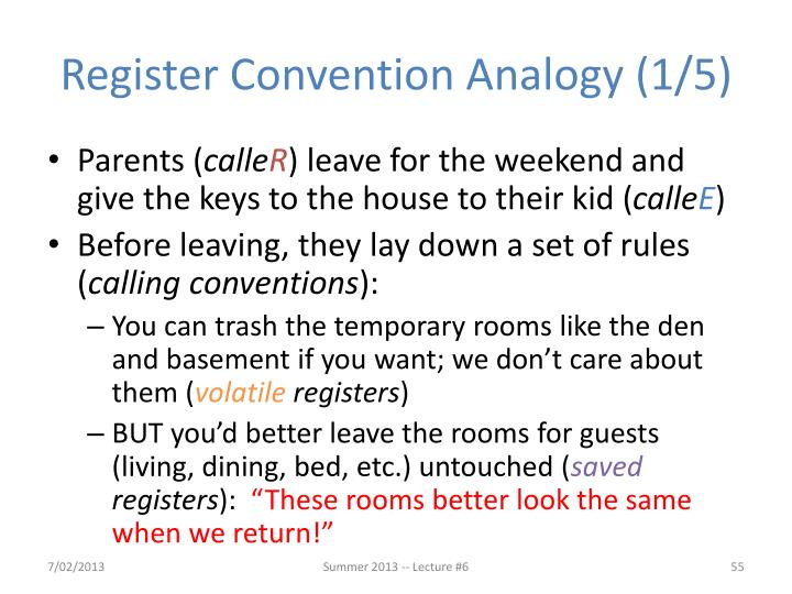 Register Convention Analogy (1/5)