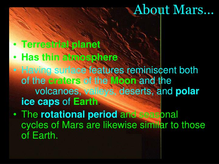 About Mars…
