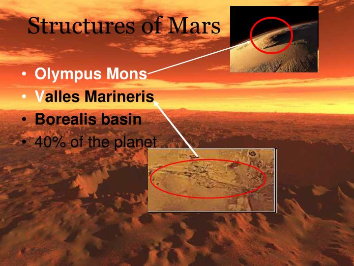 Structures of Mars