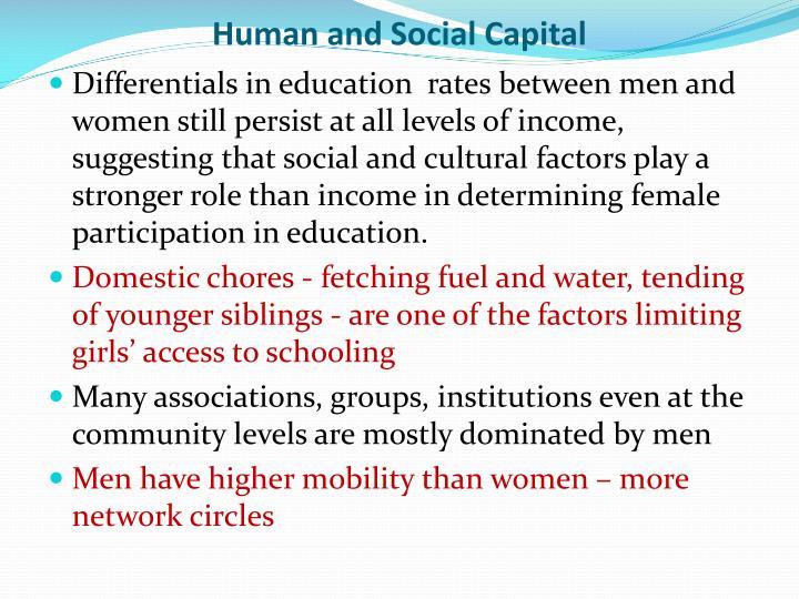 Human and Social Capital