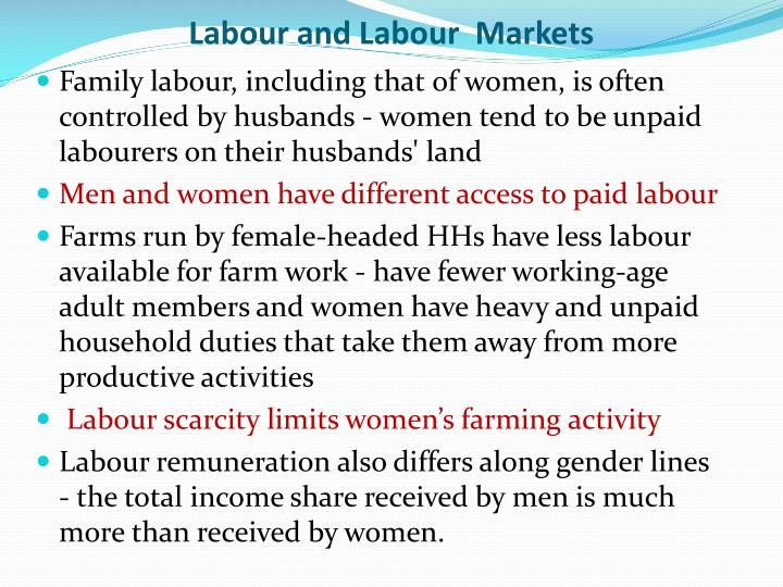 Labour and l abour markets