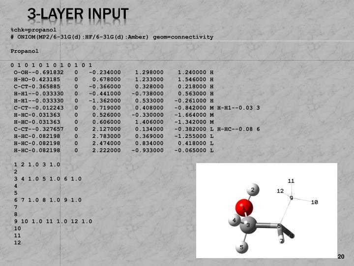 3-Layer Input