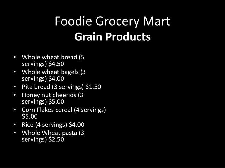 Foodie Grocery Mart