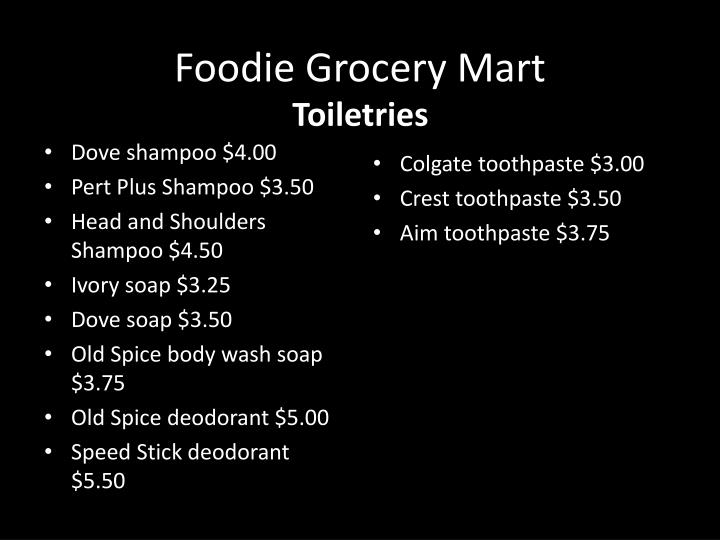 Foodie Grocery Mart