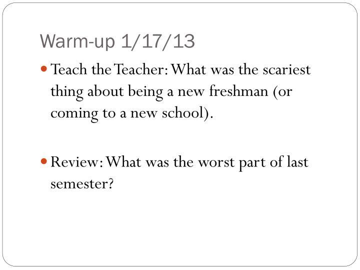 Warm-up 1/17/13