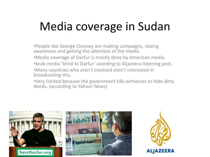 Media coverage in sudan