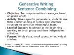 generative writing sentence combining2