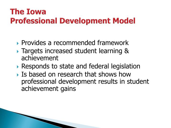 The iowa professional development model