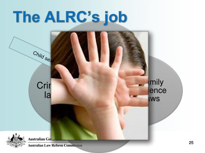 The ALRC's job