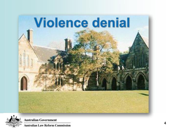 Violence denial