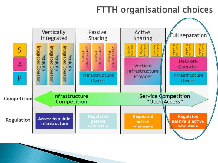 FTTH organisational choices
