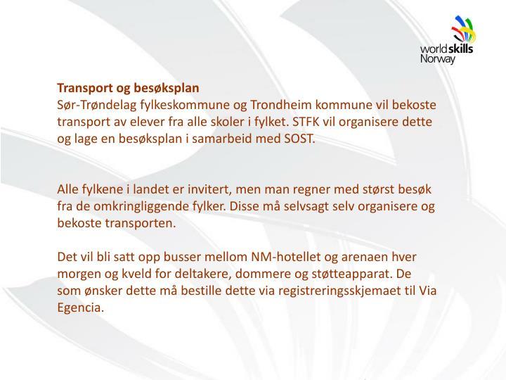 Transport og besøksplan