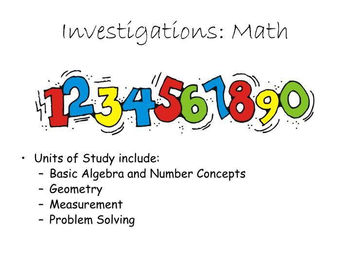 Investigations: Math