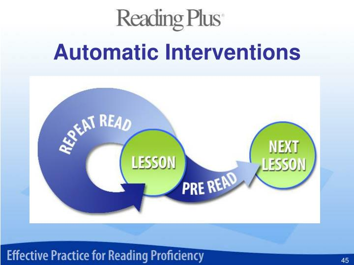 Automatic Interventions