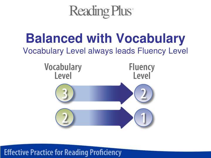 Balanced with Vocabulary
