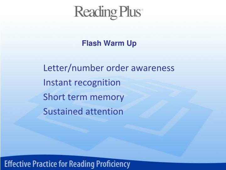 Flash Warm Up