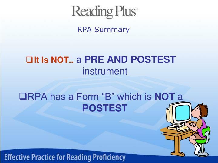 RPA Summary