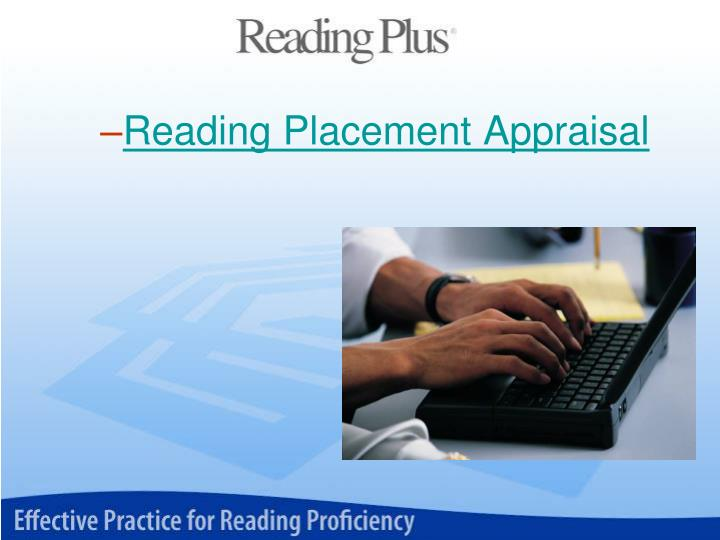 Reading Placement Appraisal