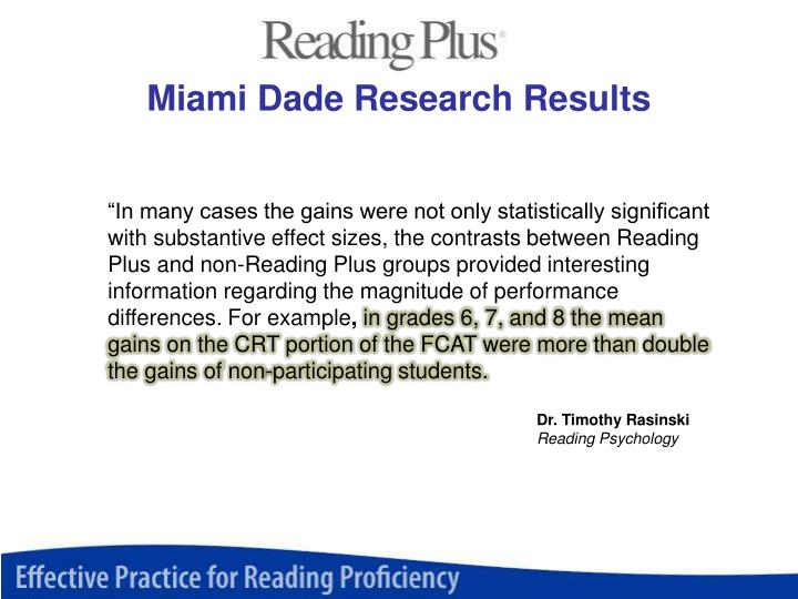 Miami Dade Research