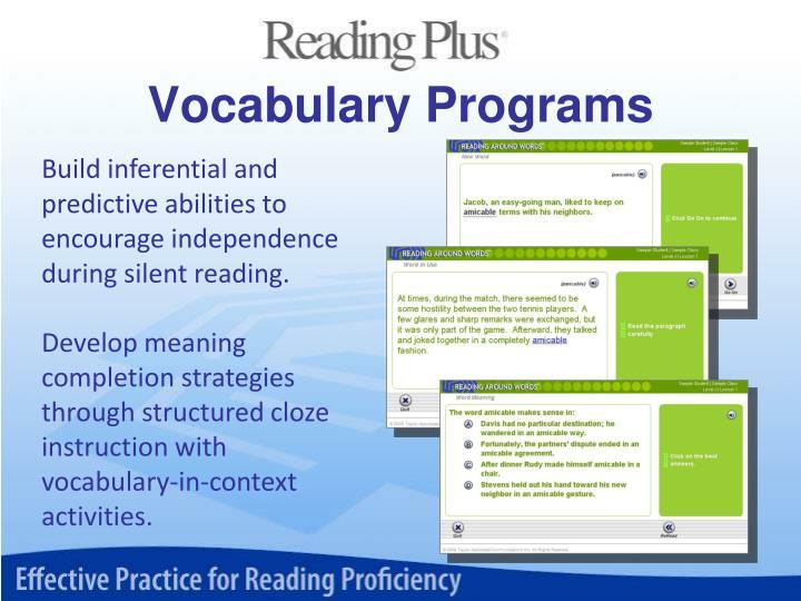 Vocabulary Programs