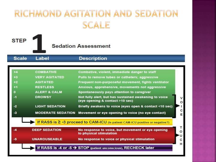 Ppt Richmond Agitation Amp Sedation Scale Powerpoint