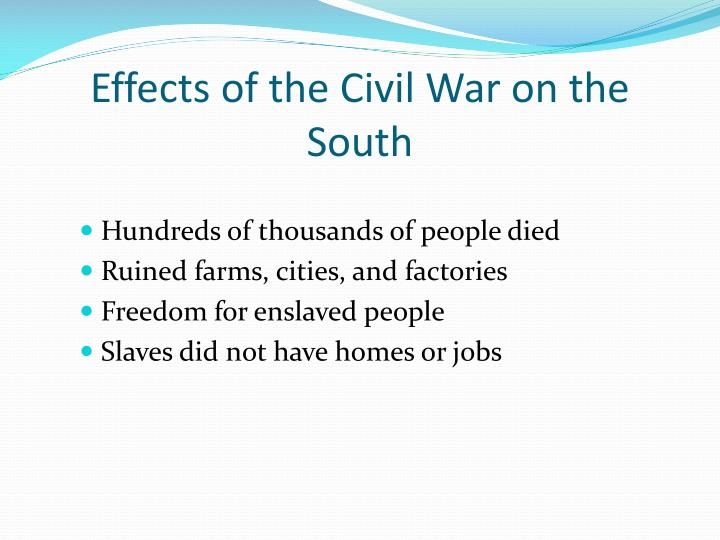 Effects of the Civil War on the South