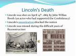lincoln s death