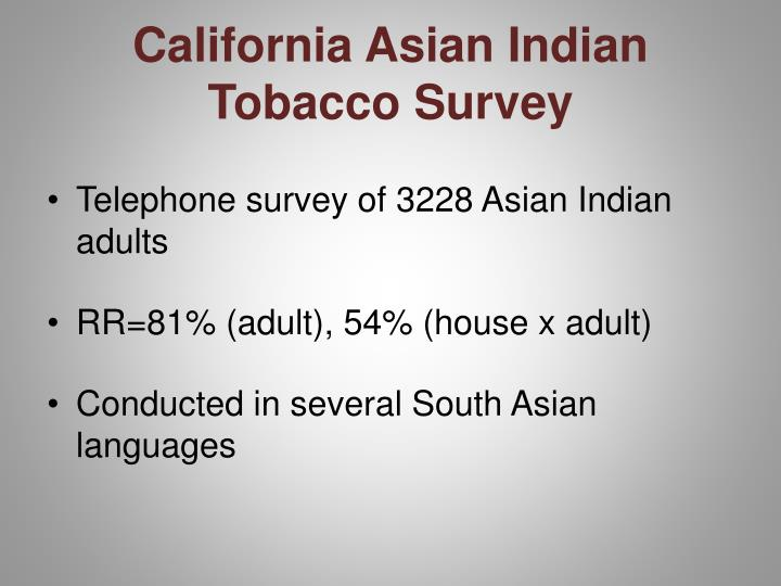 California Asian Indian