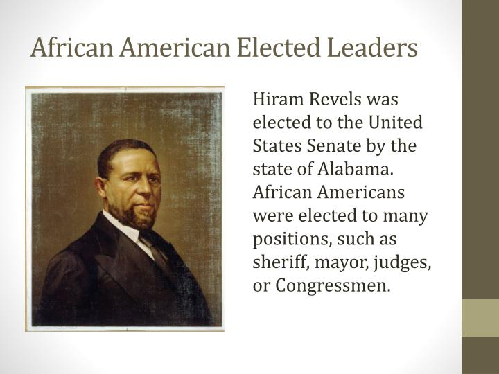African American Elected Leaders