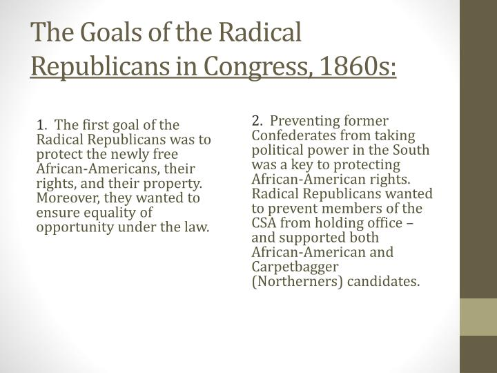 The Goals of the Radical