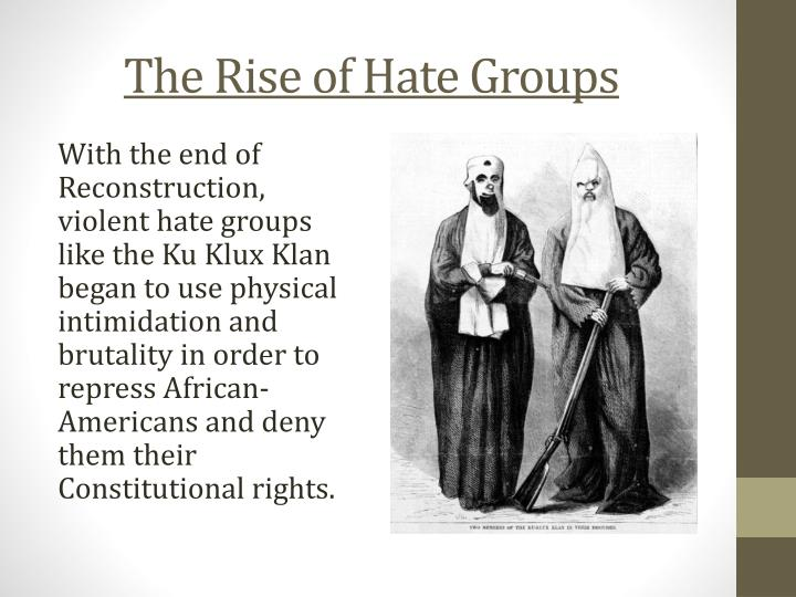 The Rise of Hate Groups