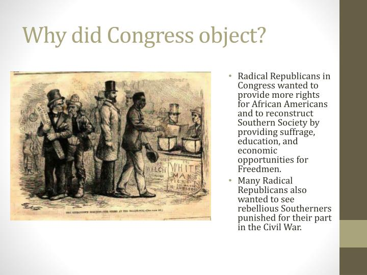 Why did Congress object?
