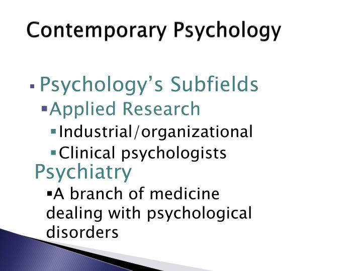 Contemporary Psychology