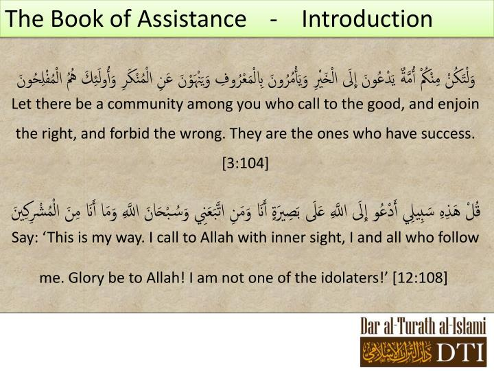 The Book of Assistance   -Introduction