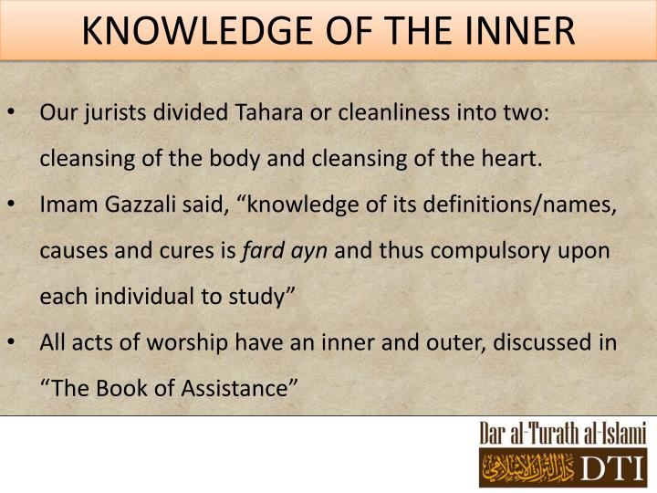 KNOWLEDGE OF THE INNER