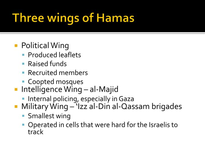 Three wings of Hamas