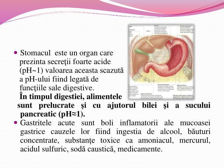 Stomacul este un organ care