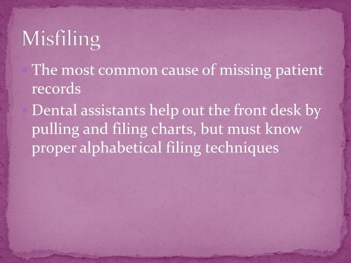 Misfiling