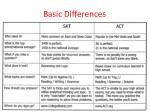 basic differences