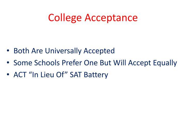 College Acceptance