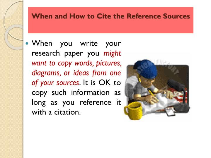 when to cite sources in a research paper